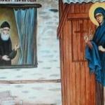 Sfânta Eufimia îl vizitează pe Sf. Pasie Aghioritul