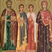 Sf. M. Mc. Eustatie și familia sa