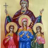 Rugăciune pentru dragoste creştinească şi unire de cuget între părinţi şi copii, către Sfintele Muceniţe Elpis, Pistis, Agapis şi maica lor Sofia