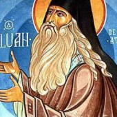 Sfântul Siluan Athonitul, servit cu o țigară