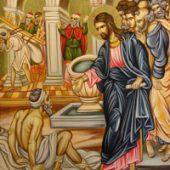 Poem la Duminica a IV-a după Paști: BOTEZUL SLĂBĂNOGULUI