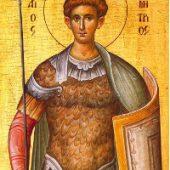 Cuvânt duhovnicesc la Sfântul Mare Mucenic Dimitrie Izvorâtorul de mir