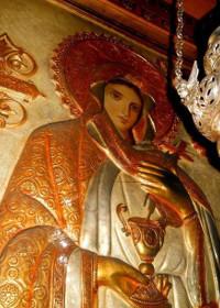 Sfânta Anastasia Vindecătoarea dezleagă o tânără de farmecele pe care i le făcuse fostul logodnic