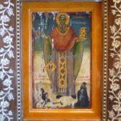 """Icoana Sfântului Haralambie de la Chilia """"Sfântul Acachie"""" – Kavsokalivia, Athos"""